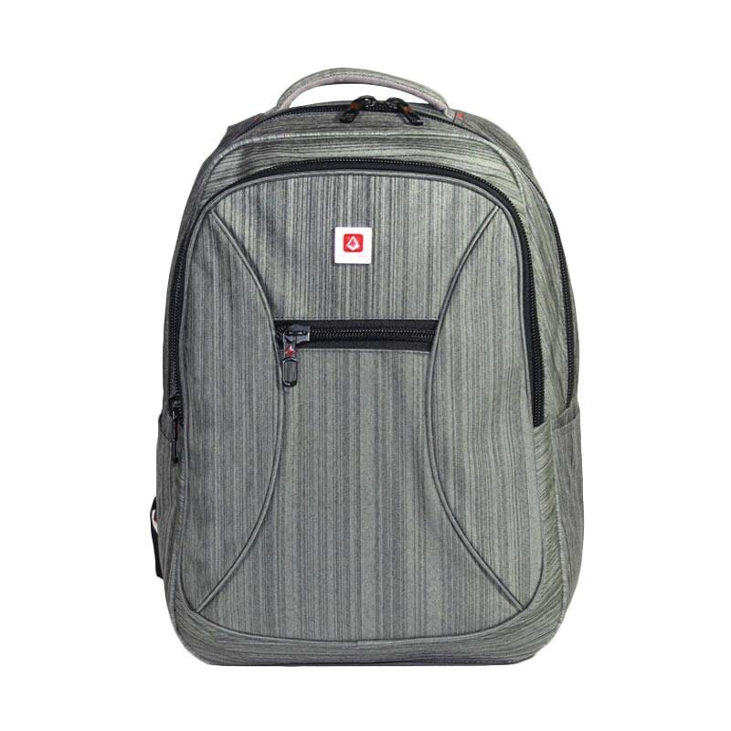 Polo Carion 730043 Tas Ransel Laptop - Abu + Raincover
