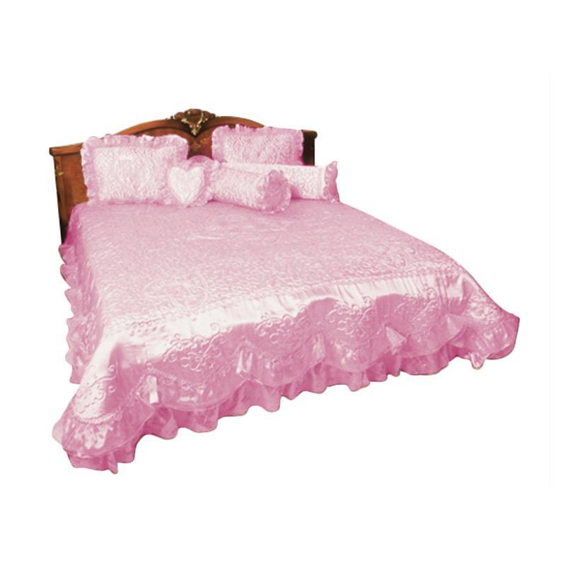 harga Rosanna Pengantin Satu hati Set Sprei - Pink [180 x 200 cm] Blibli.com