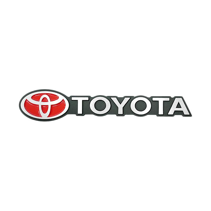 SIV EMB-TYT 12 Plat Besi Emblem Logo dan Tulisan Toyota
