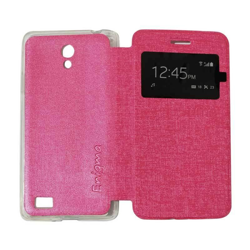 Ume Flipshell Flipcase Flip Cover Casing for Oppo Joy 3 / Joy3 / A11W / A11 - Pink