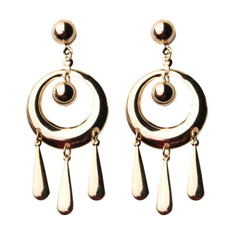 1901 Jewelry GW.2046.HR51 Circle Tears Earring - Gold