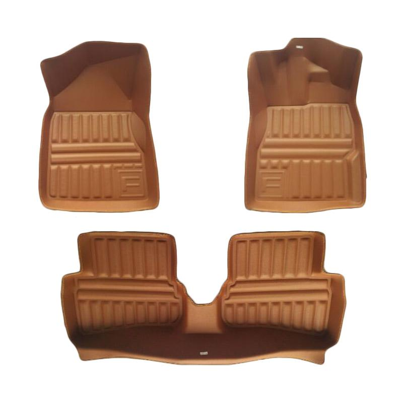 Frontier Set Karpet Mobil for Honda Brio - Brown