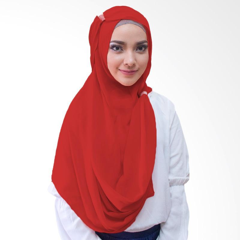 Milyarda Hijab Hana ring Kerudung instan - Merah