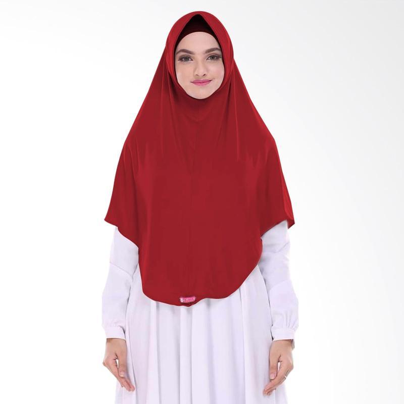 Milyarda Hijab Pashmina Instant BERGO L - Maroon