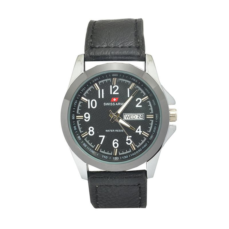Jam Tangan Pria Sevenfriday Premium Genuine Leather Strap Source · Swiss Army SA 4269 SDC Casual Jam Tangan Pria Black Bonus