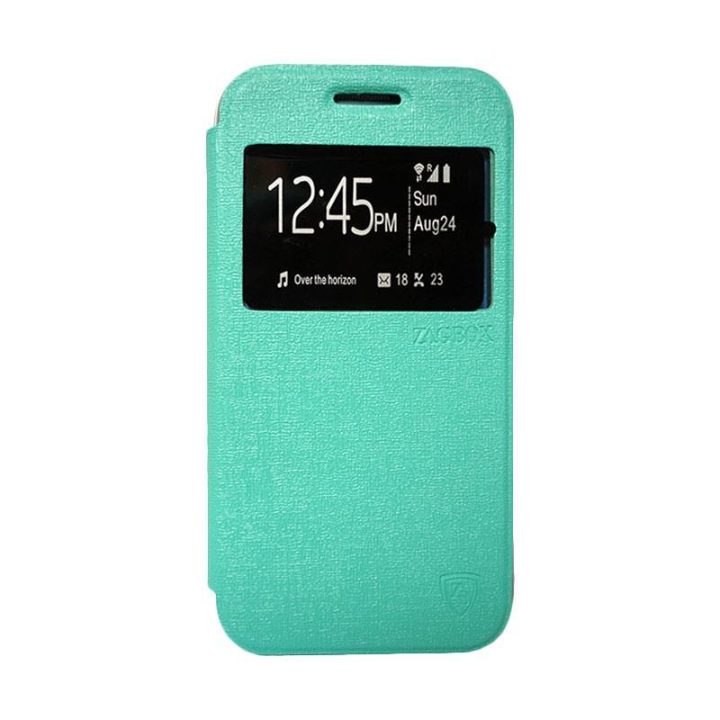 Zagbox Flip Cover Casing for Sony Xperia Z3 Mini - Hijau Tosca