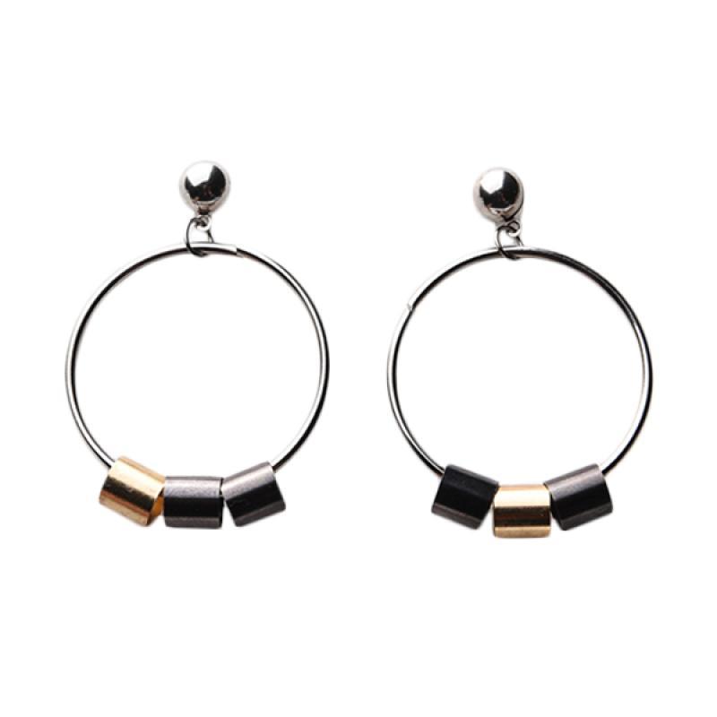 1901 Jewelry GW.1706.HR39 Cerchio Earring 1706 Anting - Silver