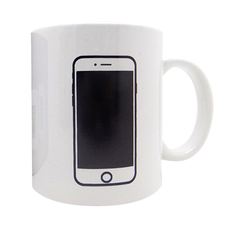 harga BestChoice Magic Mug / Gelas Ajaib / Mug Bunglon Gambar iPhone - Putih Blibli.com