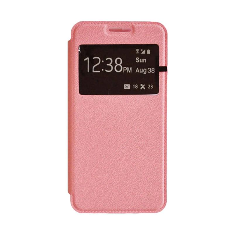 OEM Book Cover Leather Casing for Samsung Galaxy A8 - Pink
