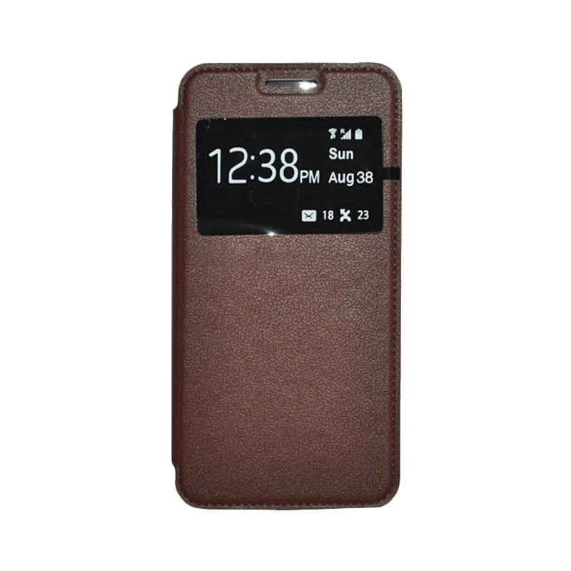 OEM Leather Book Cover Casing for SONY Xperia T3 - Brown