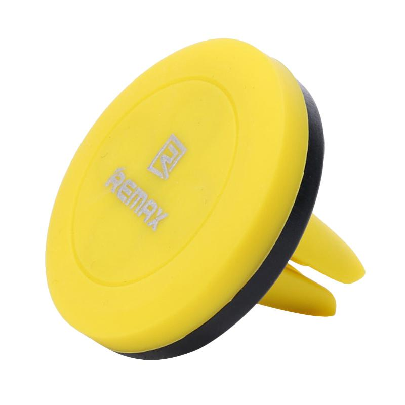 Remax RM-C10 Air Vent AC Holder for Smartphone - Yellow