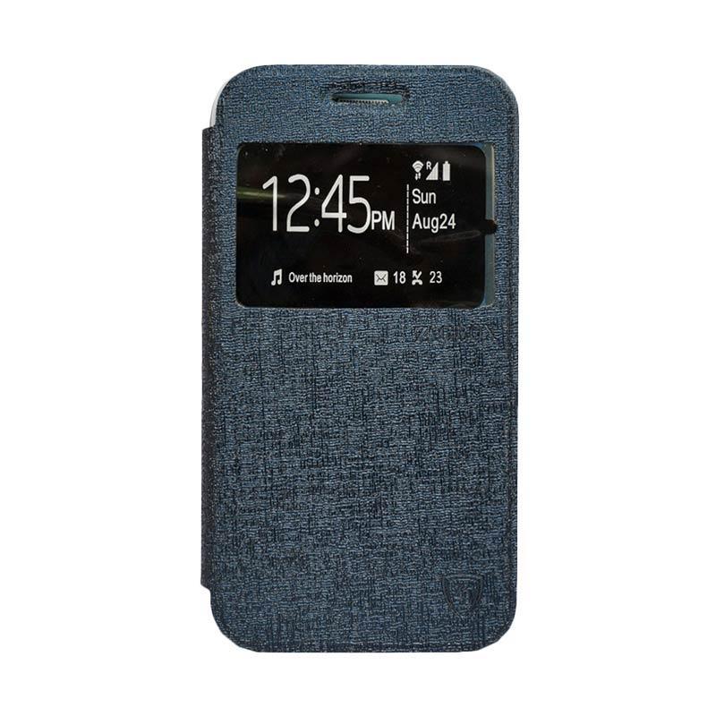 Zagbox Flip Cover Samsung Galaxy A710 A7 2016 - Biru Dongker