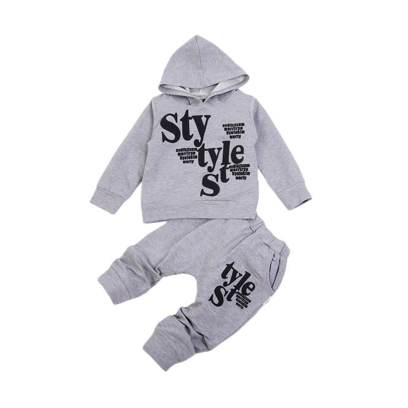 Chloe Babyshop F967 2in1 Style Set Baju Anak - Grey