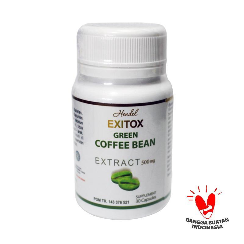 Exitox Green Coffee Bean Hendel BPOM Resmi  Exitox Pelangsing Alami Cepat Dan Aman Terbaik
