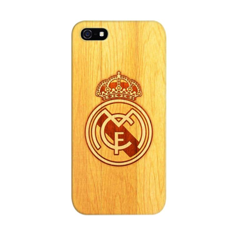 Indocustomcase Real Madrid Logo 08 Cover Casing for iPhone 5/5S/SE