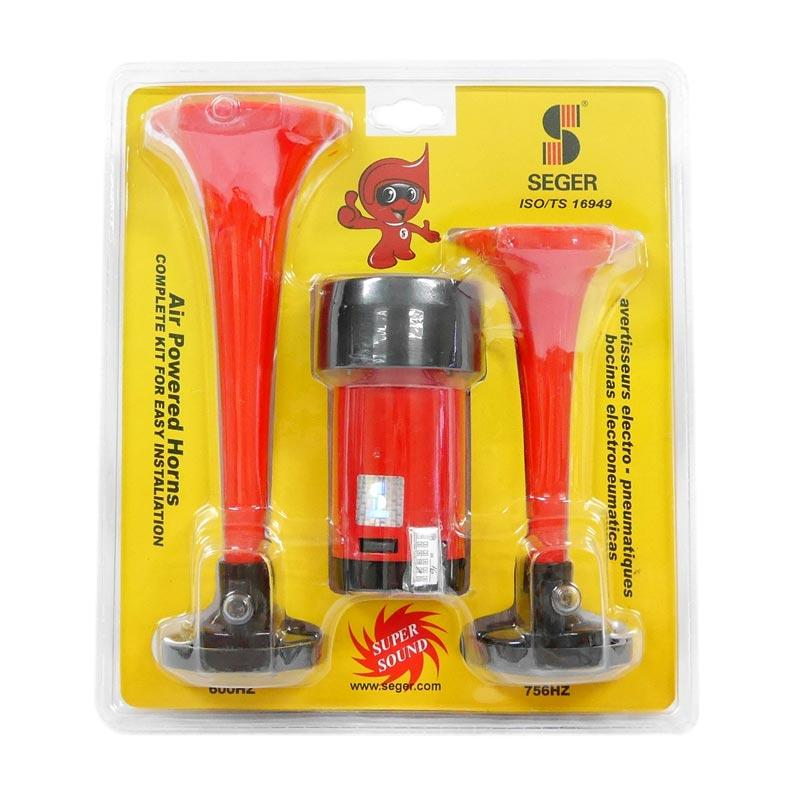 SIV Seger Air Powered Horns 2 Terompet Klakson  - Merah