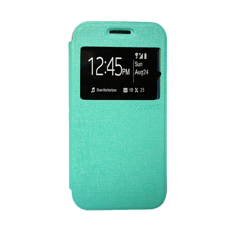 ZAGBOX Flip Cover Casing for OPPO Neo 7 A33 - Hijau Tosca