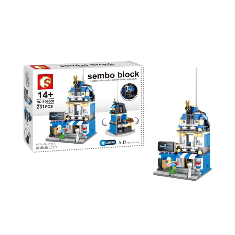 Funbrick Sembo SD6500 Barber Shop Mainan Blok & Puzzle