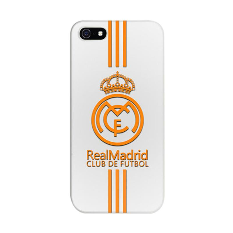 Indocustomcase Real Madrid Logo 09 Cover Casing for iPhone 5/5S/SE