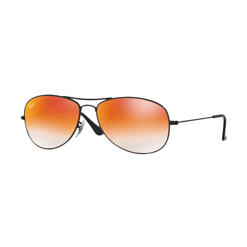 Ray-Ban 002-4W Cockpit RB3362 Sunglasses - Shiny Black [Size 59]