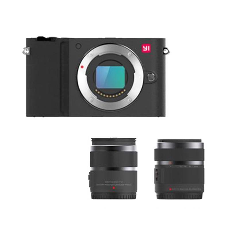 Xiaomi YI M1 12-40mm F3.5-5.6 /42.5mm F1.8 Lens Kamera Mirrorless - Black