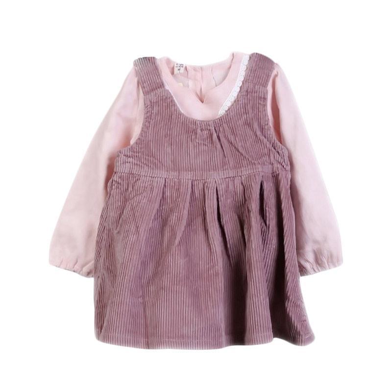 Chloebaby Shop F978 Overall Shirt Suspender Baju Anak