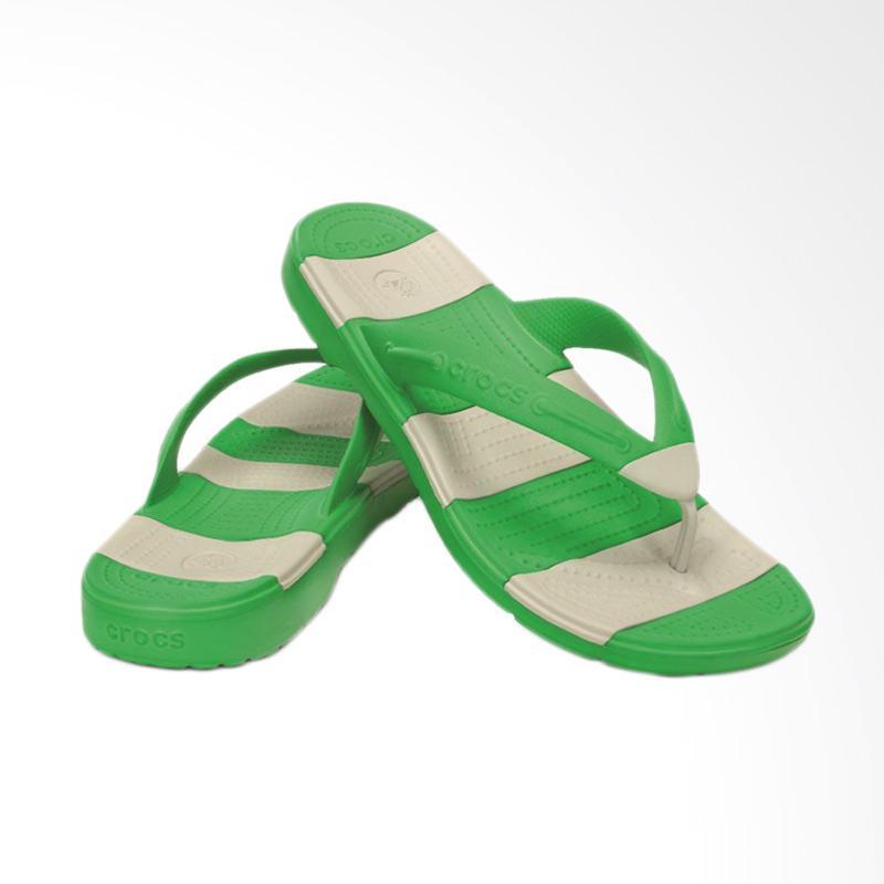 Crocs Beach Line Men Sandal CR153353E2 - Green Gray