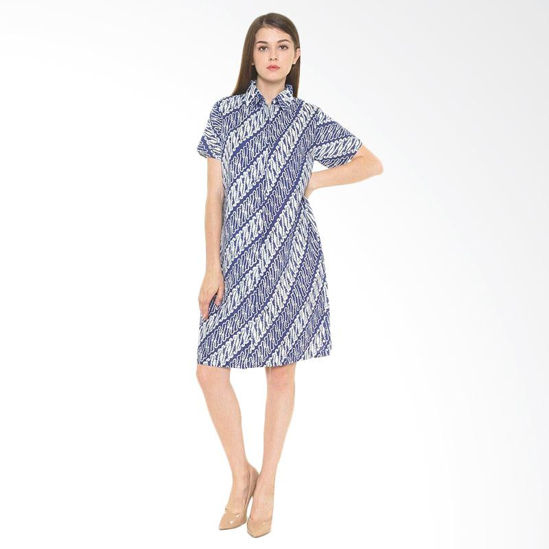 Djoemat Gembira D16-11-07 Dg Dian Dress Parang - Blue