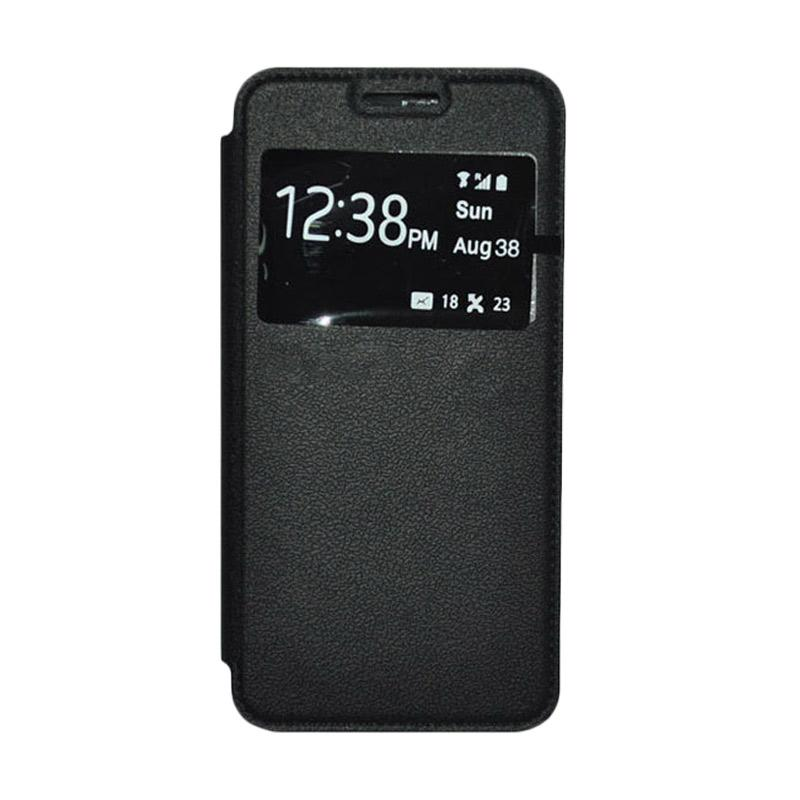 OEM Leather Book Cover Casing for Samsung Galaxy S5 - Black