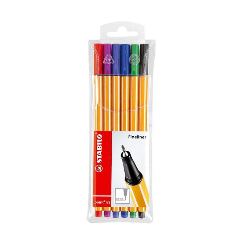 Stabilo Point 88 Set Pensil Warna - Mix Colors [6 pcs]