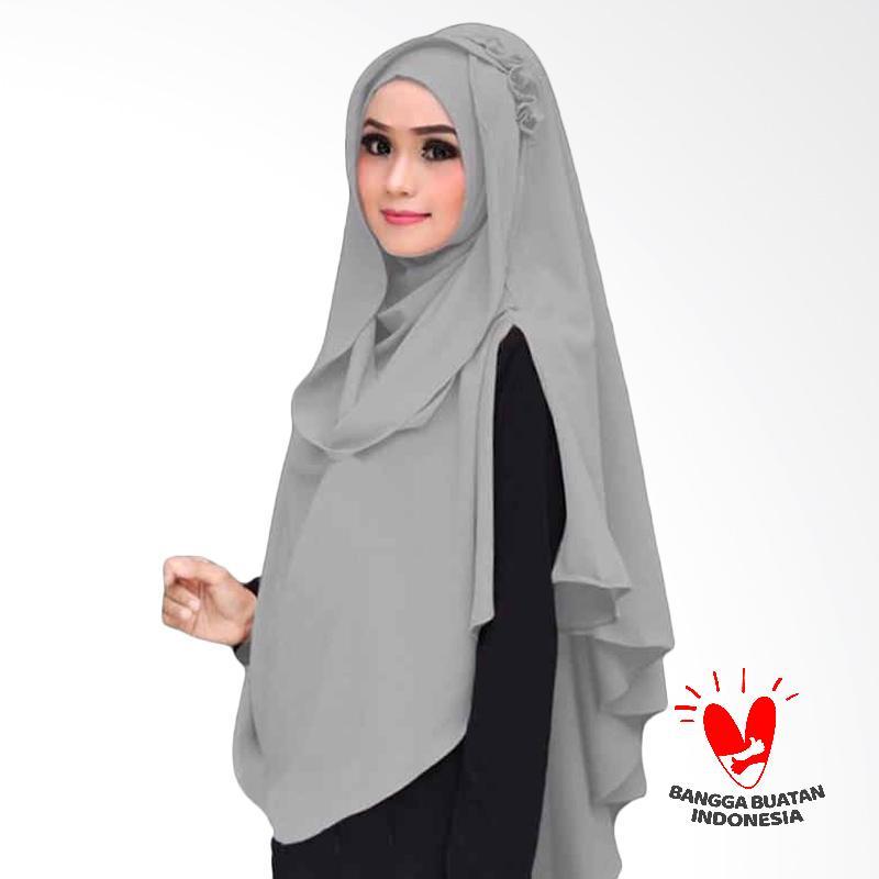 Kus Group Hijab Oki Panjang Kerudung Syar'I - Abu