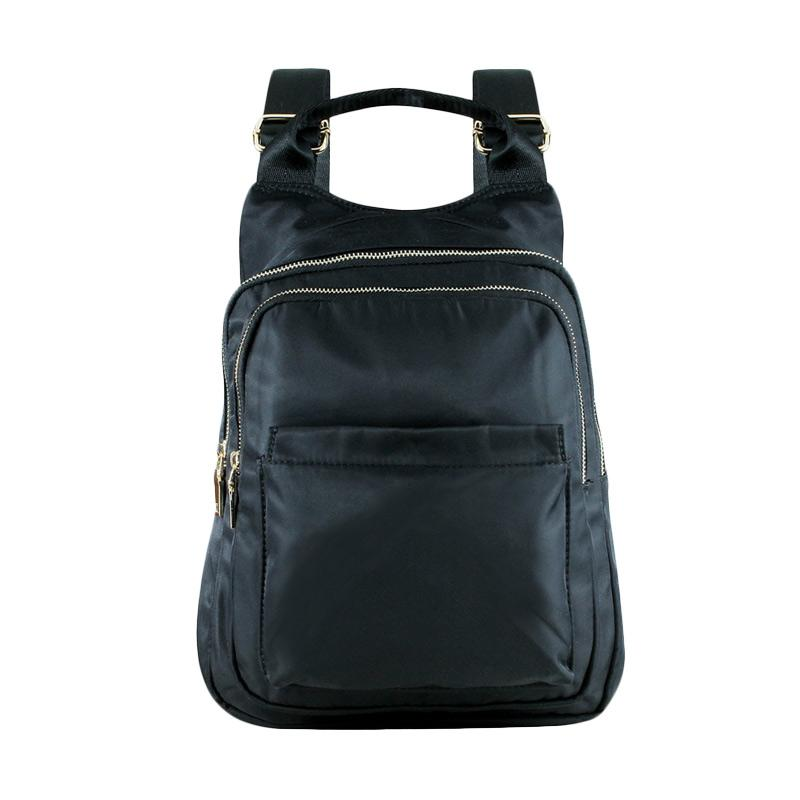 harga Mangoesteen Debora 2 Rooms Nylon 22981 Backpack - Black Blibli.com