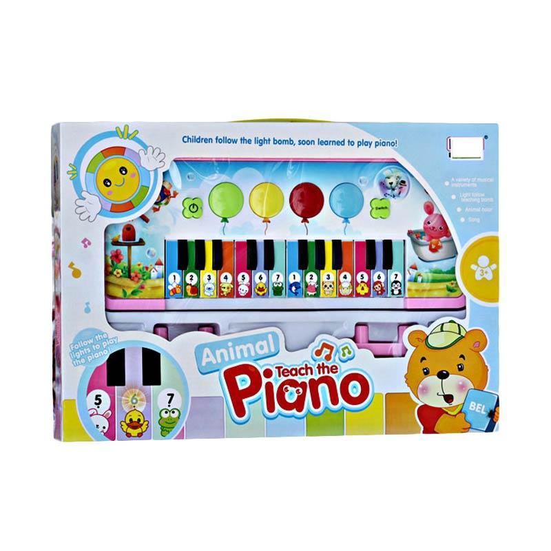 harga Momo Animal Teach The Piano 3013 Mainan Piano Anak - Multicolour Blibli.com