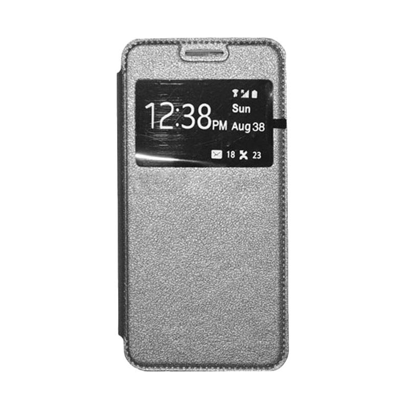 OEM Book Cover Leather Casing for Samsung Galaxy A8 - Grey
