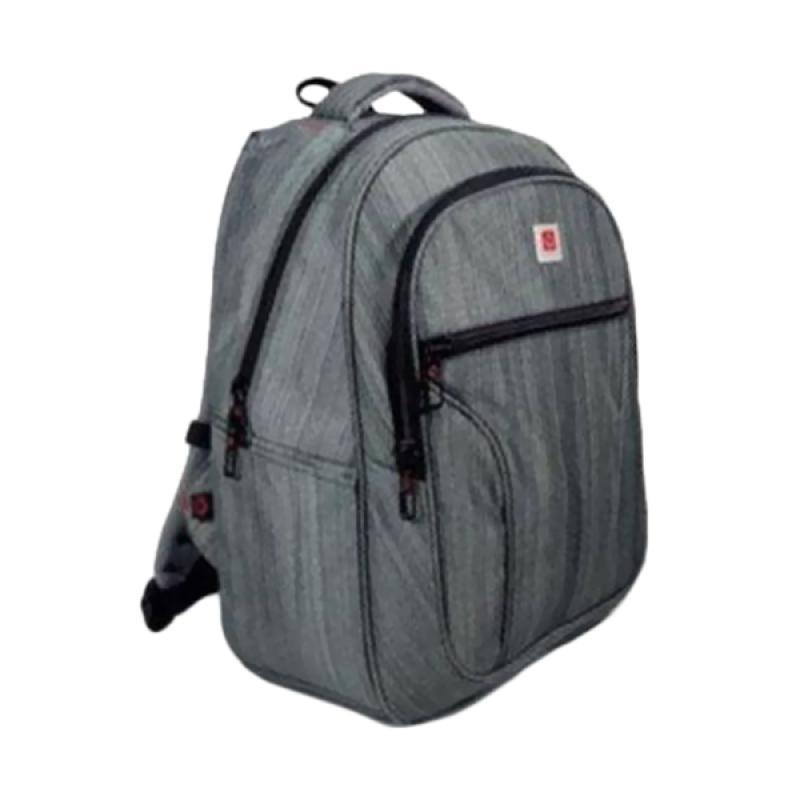Polo Carion 730055 Tas Ransel Laptop - Abu + Free Raincover