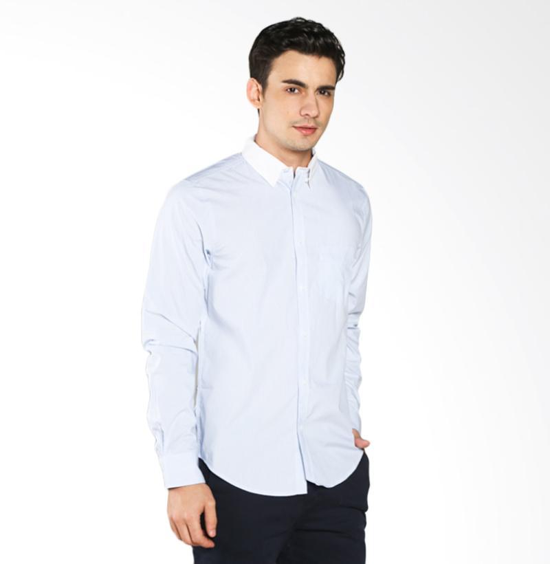 A&D Fashion Long Sleeve MS 1516-564 Kemeja Pria - Blue Stripe