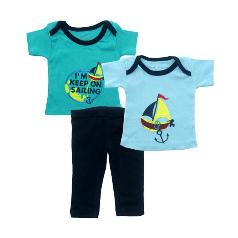 Bearhug Kapal Im Keep Set Pakaian Anak Laki-laki [3 pcs] - Hijau
