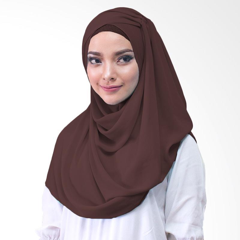 Milyarda Hijab shakina Kerudung Instan - coklat