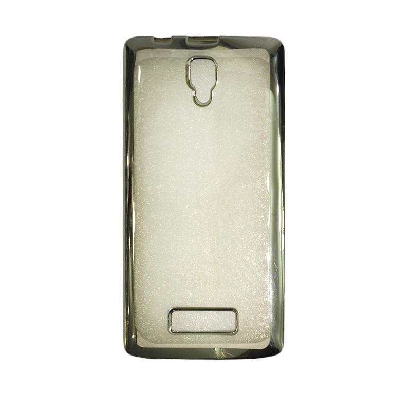 OEM Shining Chrome Softcase Casing for Lenovo A1000 - Silver