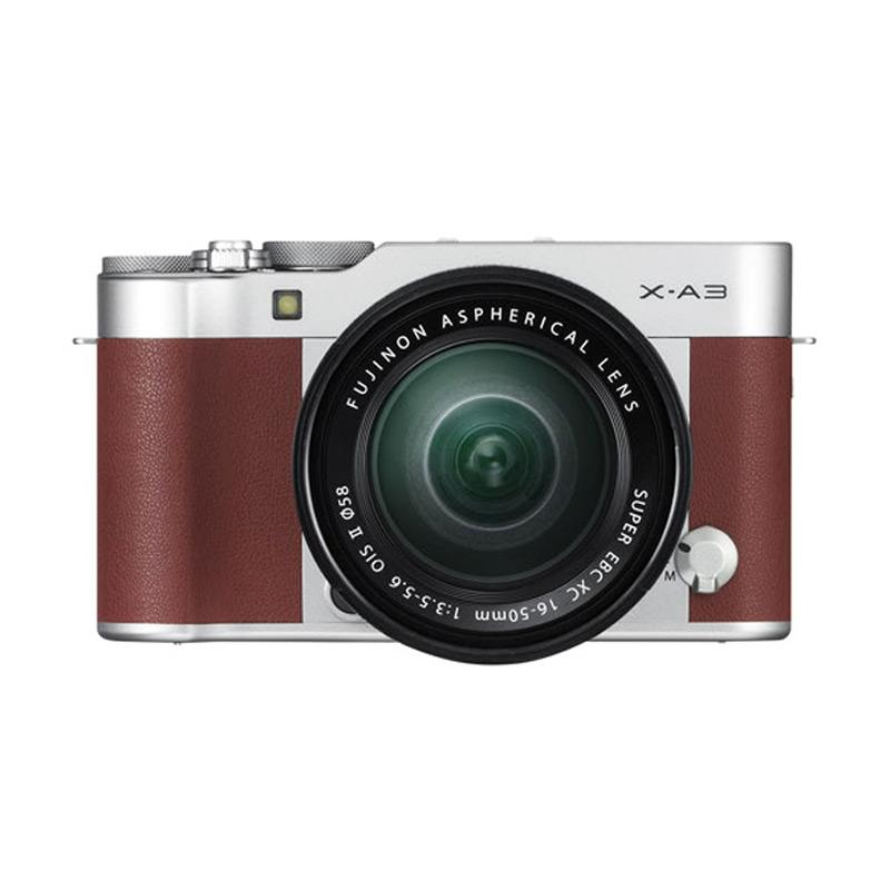 Fujifilm X-A3 Kit 16-50mm - Brown Free Memory Sony 8gb