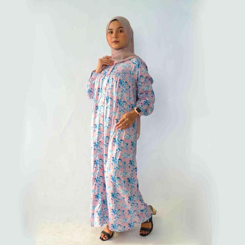 Jual Rilley Shazza Baju Gamis Syari Motif Bunga Katun Rayon Jumbo Home Dress Wanita Busui Terbaru 2020 Online Maret 2021 Blibli
