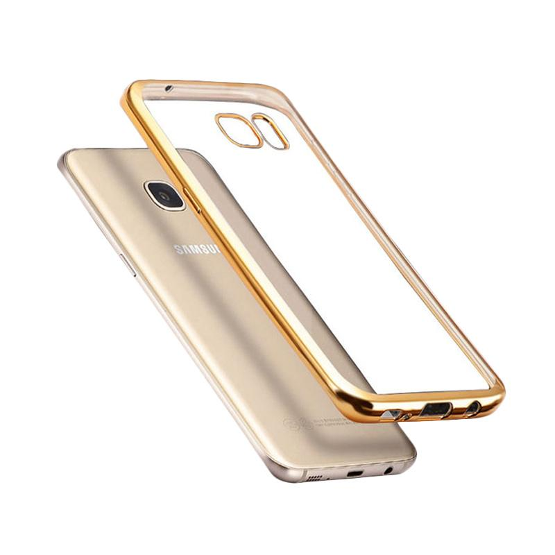 Likgus Tough Shield Casing for Samsung Galaxy S7 Edge - Gold