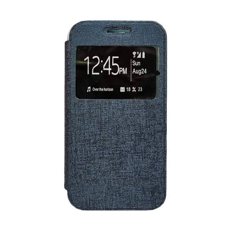 Zagbox Flip Cover Casing for Samsung Galaxy J1 Ace - Biru Dongker