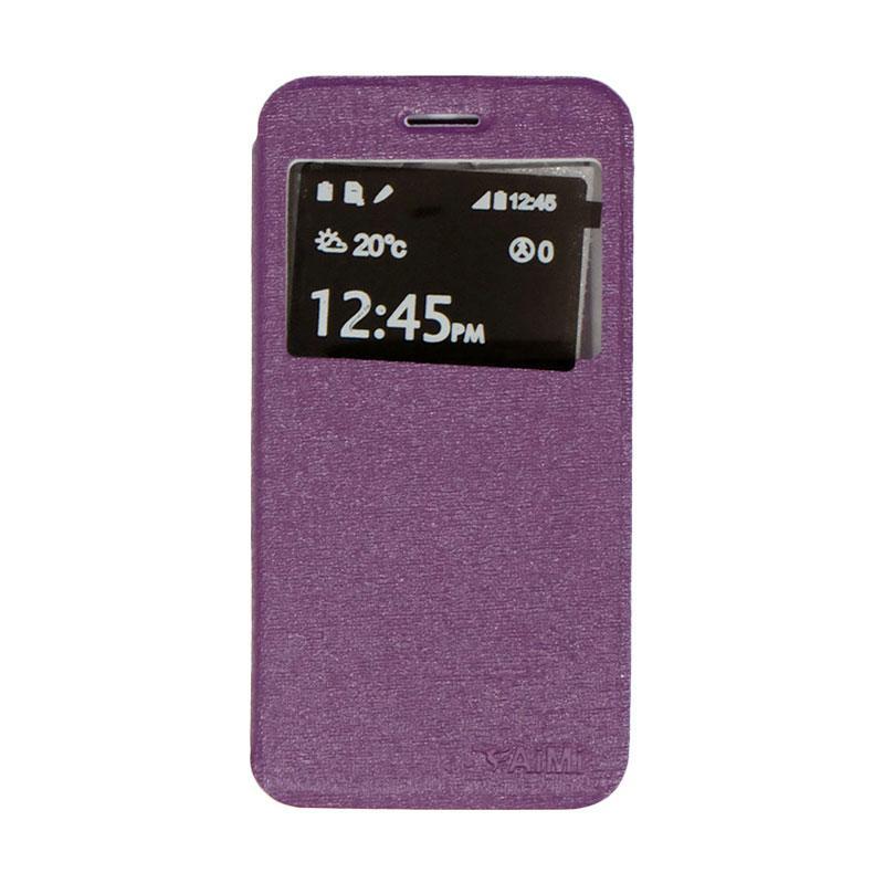 Aimi Flip Cover Casing for Smartfren Andromax B - Purple