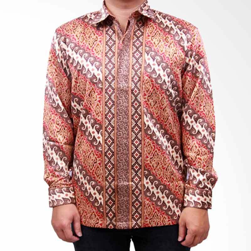 Batik Heritage Exclusive Linen Lereng Kemeja Pria - Kuning