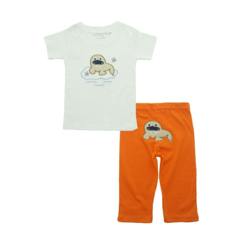 Bearhug Anjung Laut Set Pakaian Bayi Laki-laki [2 Pcs] - Putih