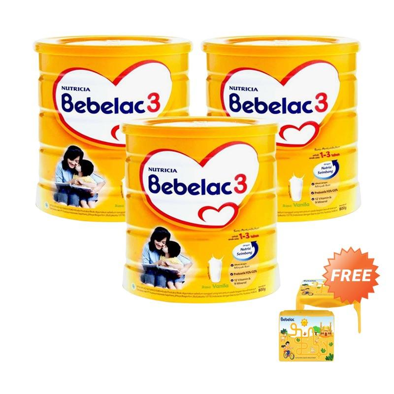 harga Buy 3 Bebelac 3 Vanila Susu Formula [800gr] Free Learning Table Blibli.com