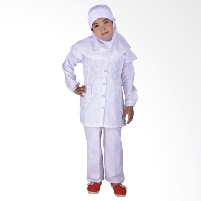 Catenzo Junior Aliyah CHE 014 Baju Muslim Anak - Putih