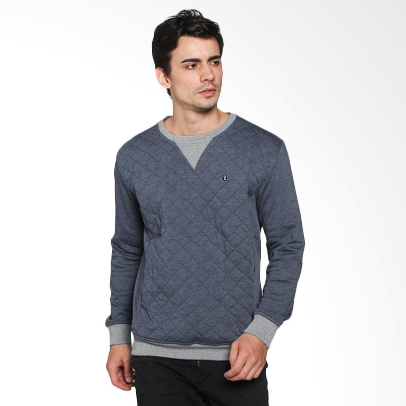 Greenlight Square Logo Sweater Pria - Blue [216031715]