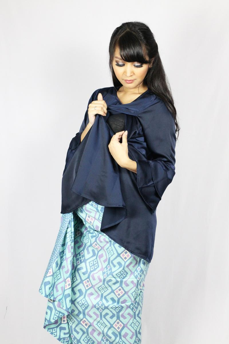 Spek Harga Just Mom Gretta 103 Baju Hamil Menyusui - Navy Blue Terbaru